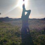 yoga. Asana sirsana